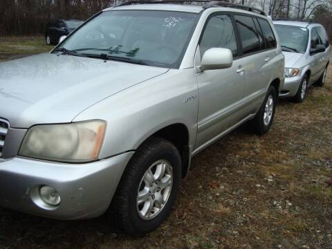 2003 Toyota Highlander for sale at Branch Avenue Auto Auction in Clinton MD