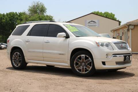 2012 GMC Acadia for sale at Northern Colorado auto sales Inc in Fort Collins CO