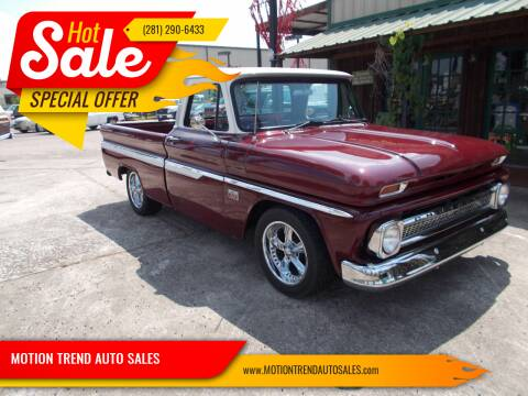1966 Chevrolet C/K 10 Series for sale at MOTION TREND AUTO SALES in Tomball TX