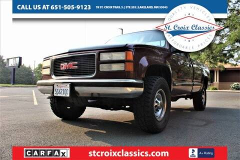 1998 GMC Sierra 2500 for sale at St. Croix Classics in Lakeland MN