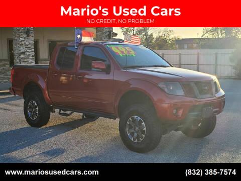 2014 Nissan Frontier for sale at Mario's Used Cars - Pasadena Location in Pasadena TX