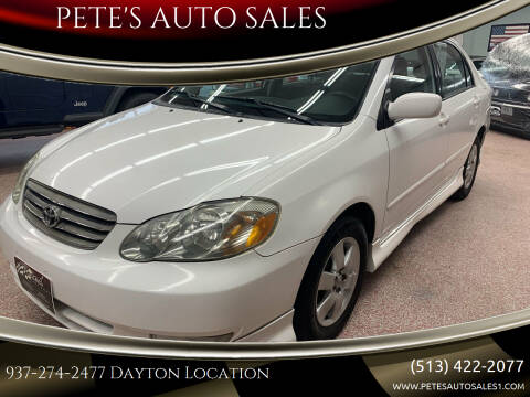 2004 Toyota Corolla for sale at PETE'S AUTO SALES LLC - Dayton in Dayton OH
