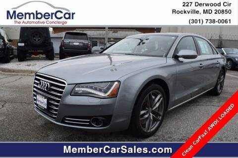 2012 Audi A8 L for sale at MemberCar in Rockville MD