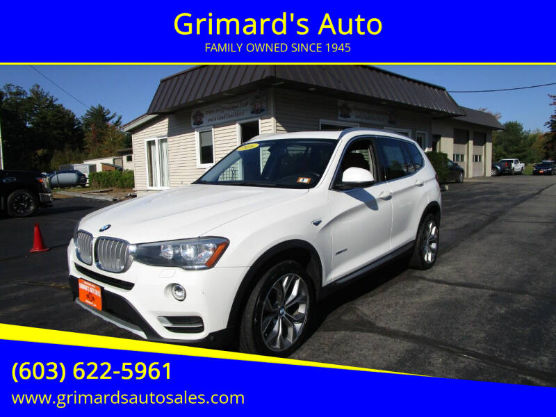 2016 BMW X3 for sale at Grimard's Auto in Hooksett NH