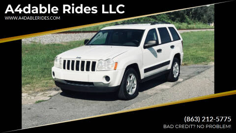 2006 Jeep Grand Cherokee for sale at A4dable Rides LLC in Haines City FL
