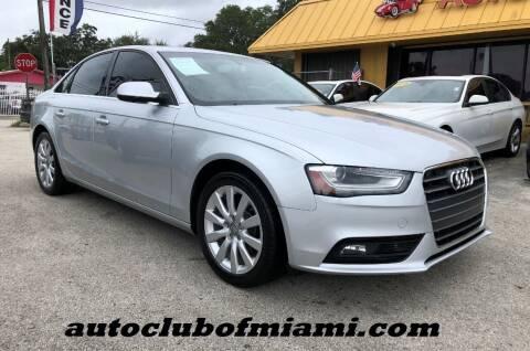 2013 Audi A4 for sale at AUTO CLUB OF MIAMI, INC in Miami FL