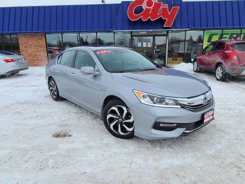 2016 Honda Accord for sale at CITY SELECT MOTORS in Galesburg IL