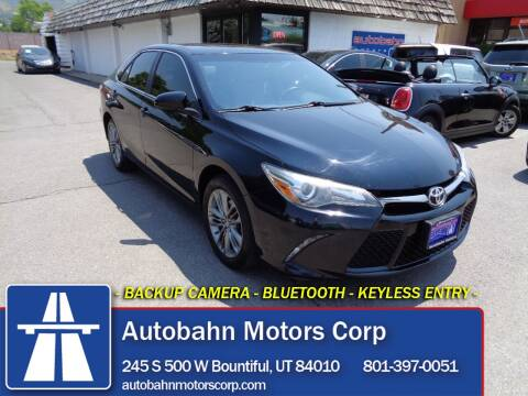 2016 Toyota Camry for sale at Autobahn Motors Corp in Bountiful UT