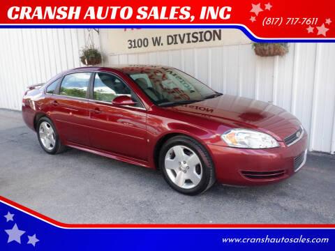 2008 Chevrolet Impala for sale at CRANSH AUTO SALES, INC in Arlington TX