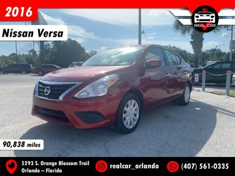 2016 Nissan Versa for sale at Real Car Sales in Orlando FL