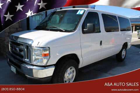 2014 Ford E-Series Wagon for sale at A&A Auto Sales in Orem UT