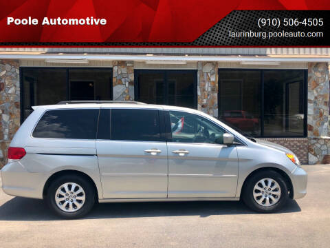 2008 Honda Odyssey for sale at Poole Automotive in Laurinburg NC