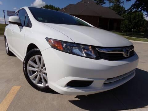 2012 Honda Civic for sale at Calvary Motors, Inc. in Bixby OK