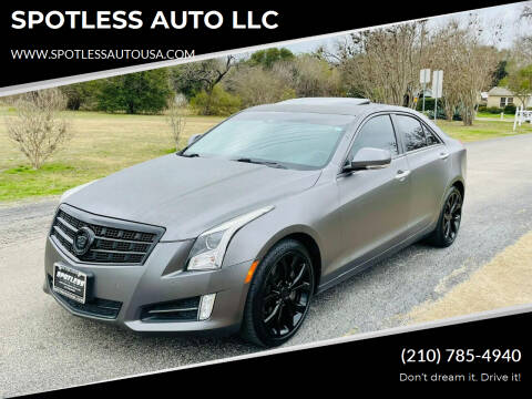 2013 Cadillac ATS for sale at SPOTLESS AUTO LLC in San Antonio TX
