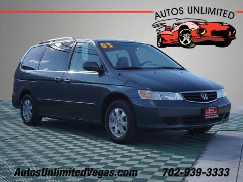 2003 Honda Odyssey for sale at Autos Unlimited in Las Vegas NV