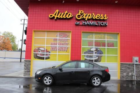 2012 Chevrolet Cruze for sale at AUTO EXPRESS OF HAMILTON LLC in Hamilton OH