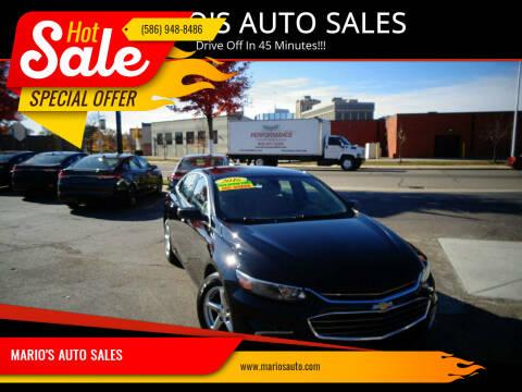 2016 Chevrolet Malibu for sale at MARIO'S AUTO SALES in Mount Clemens MI