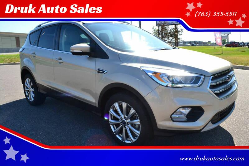 2017 Ford Escape for sale at Druk Auto Sales in Ramsey MN