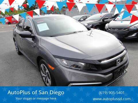 2019 Honda Civic for sale at AutoPlus of San Diego in Spring Valley CA