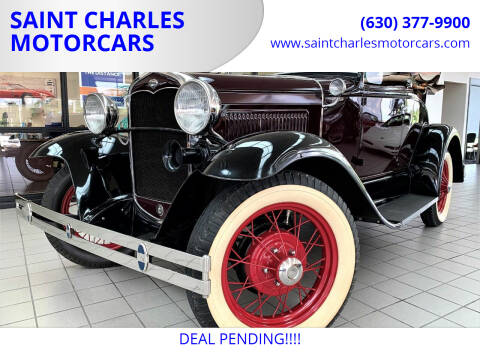 1931 Ford Model A for sale at SAINT CHARLES MOTORCARS in Saint Charles IL