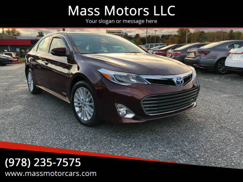 2013 Toyota Avalon Hybrid for sale at Mass Motors LLC in Worcester MA