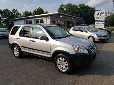 2005 Honda CR-V for sale at Highlands Auto Gallery in Braintree MA