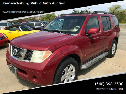2006 Nissan Pathfinder for sale at FPAA in Fredericksburg VA
