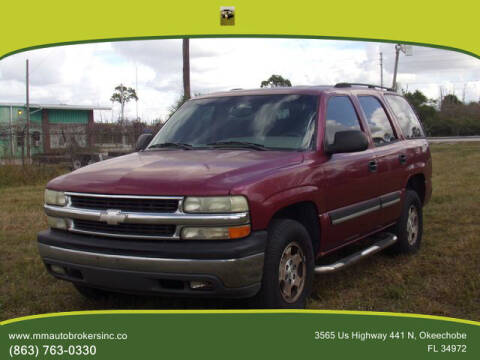 2004 Chevrolet Tahoe for sale at M & M AUTO BROKERS INC in Okeechobee FL