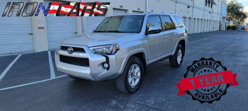 2015 Toyota 4Runner for sale at IRON CARS in Hollywood FL