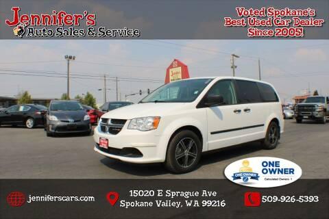 2014 Dodge Grand Caravan for sale at Jennifer's Auto Sales in Spokane Valley WA