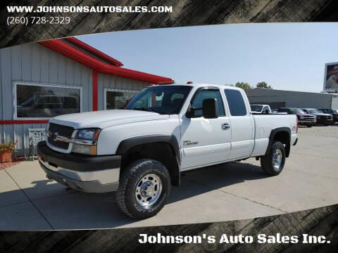 2003 Chevrolet Silverado 2500HD for sale at Johnson's Auto Sales Inc. in Decatur IN