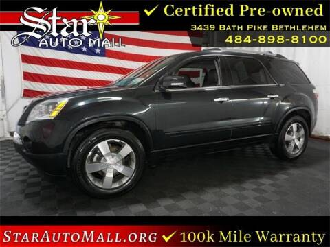 2011 GMC Acadia for sale at STAR AUTO MALL 512 in Bethlehem PA