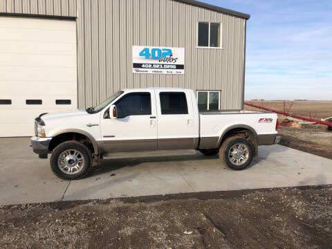 2003 Ford F-350 Super Duty for sale at 402 Autos in Lindsay NE