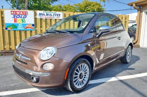 2012 FIAT 500 for sale at ALWAYSSOLD123 INC in Fort Lauderdale FL