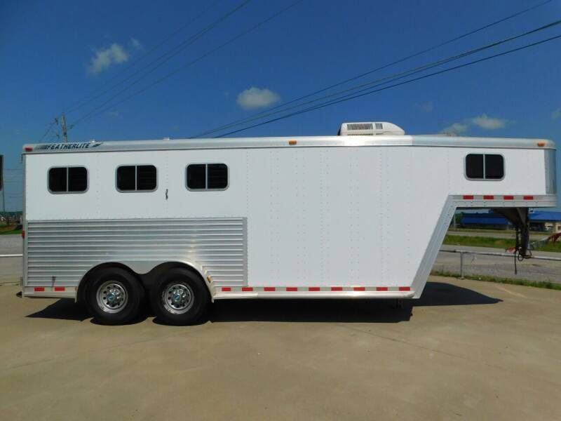 2001 Featherlite Horse Trailer for sale at Motorsports Unlimited in McAlester OK