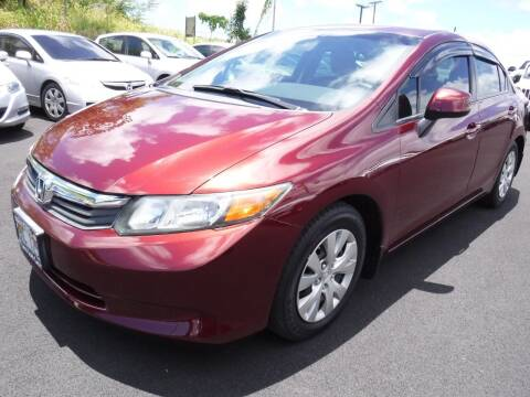 2012 Honda Civic for sale at PONO'S USED CARS in Hilo HI