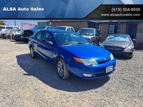 2004 Saturn Ion for sale at ALSA Auto Sales in El Cajon CA