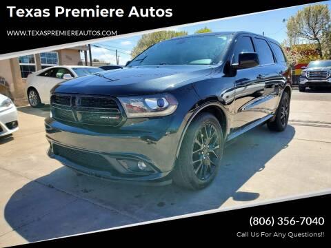 2015 Dodge Durango for sale at Texas Premiere Autos in Amarillo TX