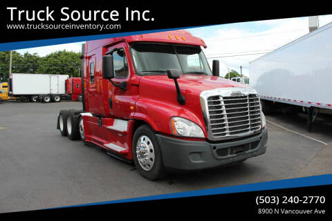 2014 Freightliner CASCADIA 125 DROP AXLE for sale at Truck Source Inc. in Portland OR