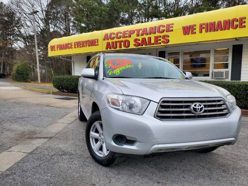 2010 Toyota Highlander for sale at Acceptance Auto Sales in Marietta GA