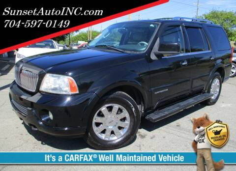 2004 Lincoln Navigator for sale at Sunset Auto in Charlotte NC
