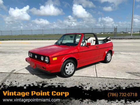 1988 Volkswagen Cabriolet for sale at Vintage Point Corp in Miami FL