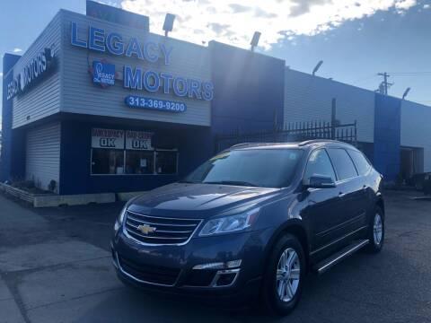 2014 Chevrolet Traverse for sale at Legacy Motors in Detroit MI