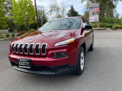 2015 Jeep Cherokee for sale at CAR MASTER PROS AUTO SALES in Lynnwood WA
