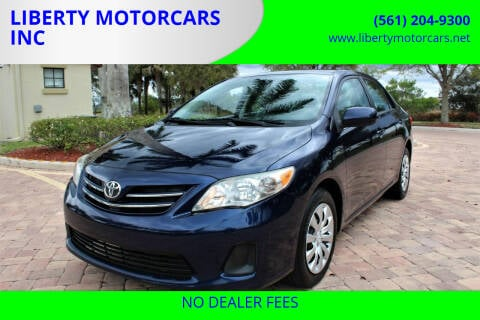 2013 Toyota Corolla for sale at LIBERTY MOTORCARS INC in Royal Palm Beach FL