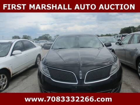 2016 Lincoln MKS for sale at First Marshall Auto Auction in Harvey IL