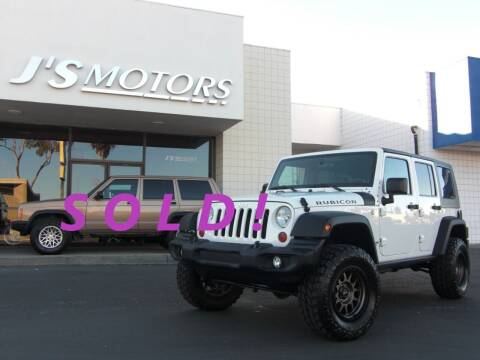 2010 Jeep Wrangler Unlimited for sale at J'S MOTORS in San Diego CA