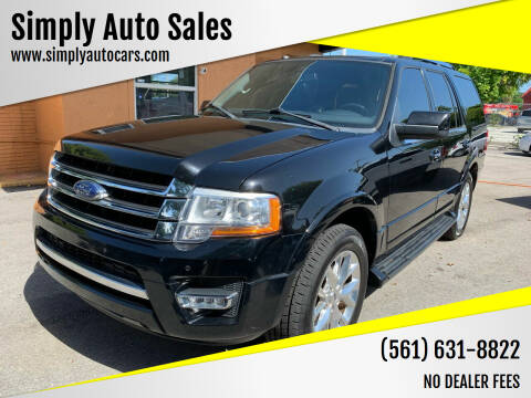 2017 Ford Expedition for sale at Simply Auto Sales in Palm Beach Gardens FL