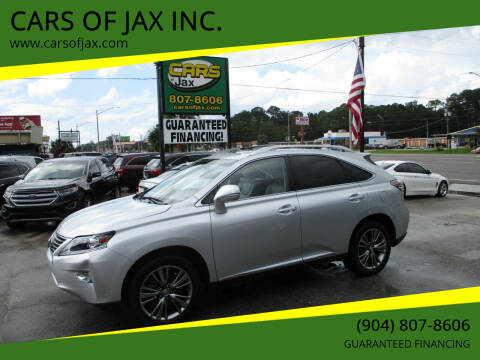 2014 Lexus RX 350 for sale at CARS OF JAX INC. in Jacksonville FL