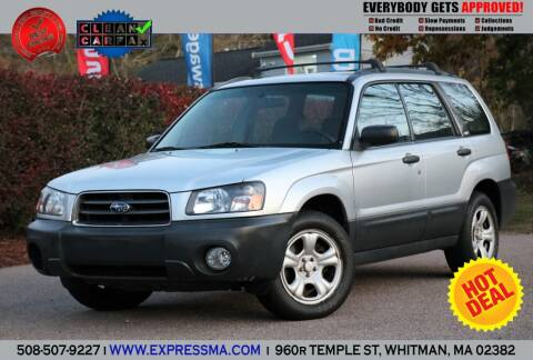 2004 Subaru Forester for sale at Auto Sales Express in Whitman MA